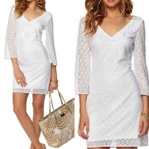 LILLY PULITZER ALDEN TUNIC DRESS RESORT KNIT LACE
